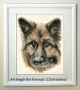Single Pet Portrait A4 (20% Deposit)